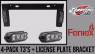 4- Pack T3's + License Plate Bracket