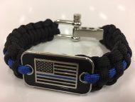 Thin Blue Line Paracord Bracelet